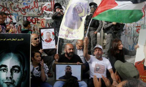 Grève générale des Palestiniens en soutien aux prisonniers grévistes de la faim.