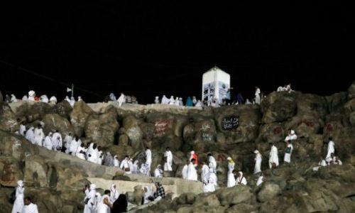 Les pèlerins musulmans au mont Arafat, temps fort du hajj.