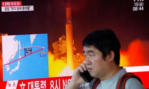 La Corée du Nord lance un missile au-dessus du Japon