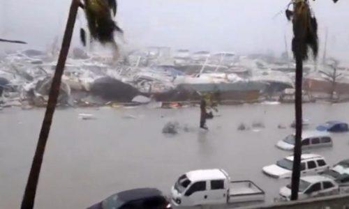 Saint-Martin dévastée par le passage de l'ouragan Irma.