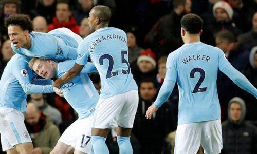 Manchester City s'impose à United et fonce vers le titre