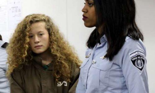 Ahed Tamimi, jeune figure familière de la résistance palestinienne.